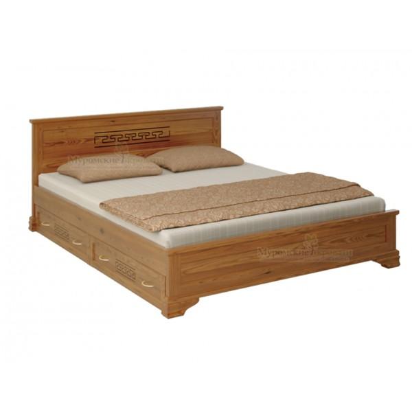 """""""Классика"""" с рисунком кровать с ящиками"""
