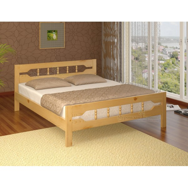 """Кровать из массива дерева """"Крокус-1"""""""