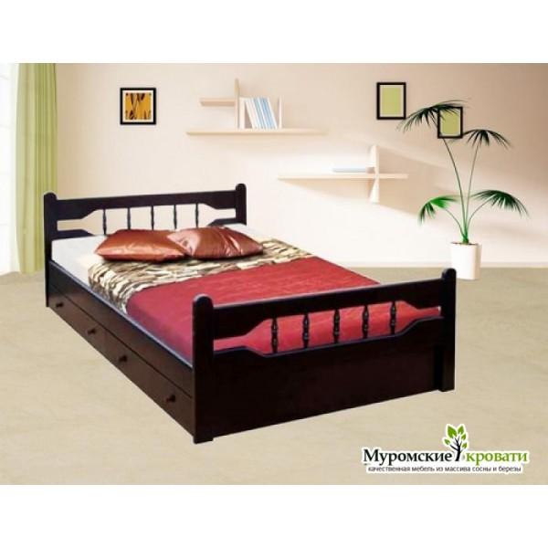 """Кровать из массива дерева """"Крокус"""""""