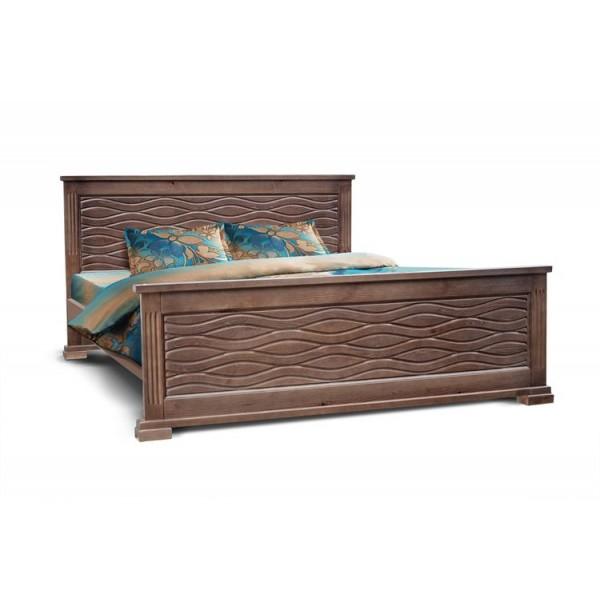 """Кровать из массива дерева """"Волна"""""""
