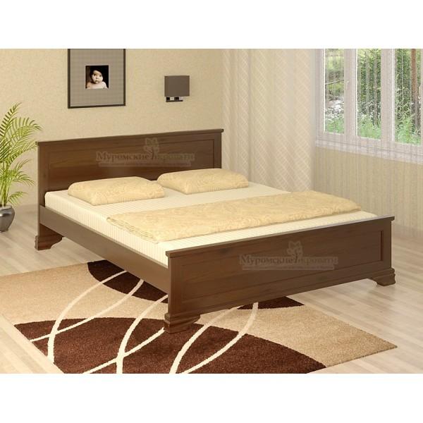 """Кровать из массива дерева """"Классика"""" без рисунка"""