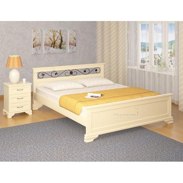 """Кровать из массива дерева """"Лира Ковка"""""""