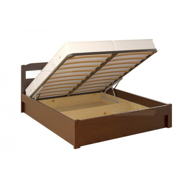 """Кровать из массива дерева """"Дачная"""" с подъемным механизмом"""