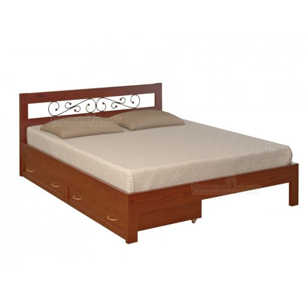 """Кровать из массива дерева """"Рио"""" с ящиками"""
