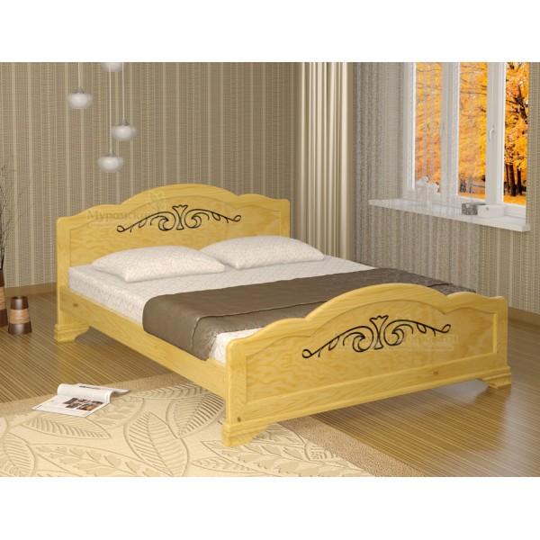 """Кровать из массива дерева """"Муза"""""""