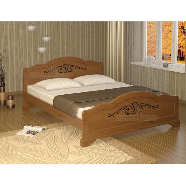"""Кровать из массива дерева """"Муза"""" темная"""