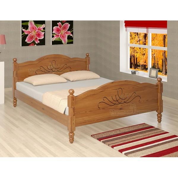 """Кровать из массива дерева """"Лама"""""""