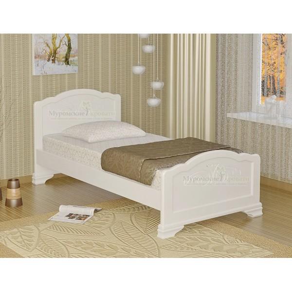 """""""Муза"""" белая кровать односпальная"""