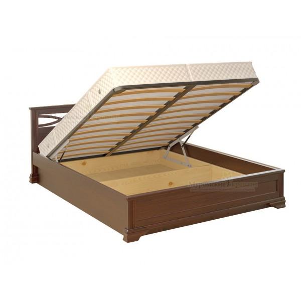 """""""Лира"""" темная кровать с подъемным механизмом"""