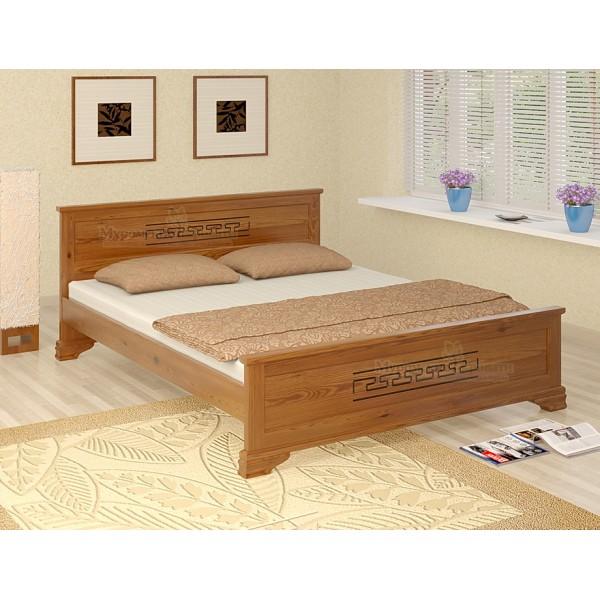 """""""Классика"""" с рисунком кровать из дерева"""